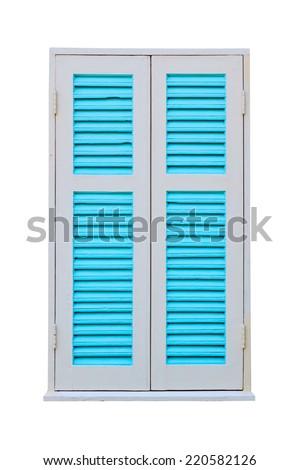 Blue window - stock photo
