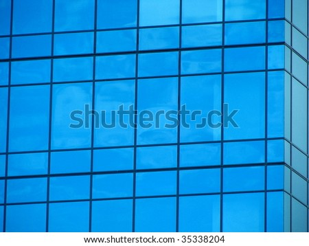 Blue Window Abstract 2 - stock photo