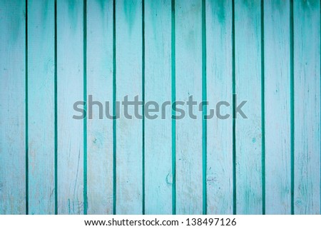 Blue wood plank wall texture background - stock photo