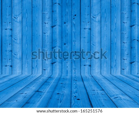 Blue wood texture background - stock photo
