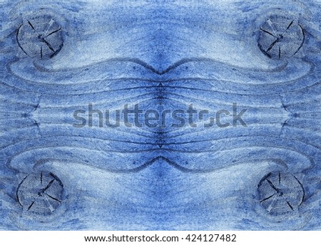 Blue wood texture with natural pattern. - stock photo