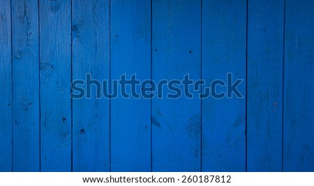 blue wooden fence background - stock photo
