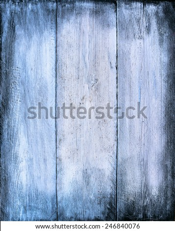 Blue wooden texture, timber background - stock photo