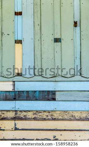 Blue wooden wall pattern