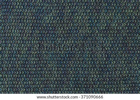 blue wool fabric background or texture