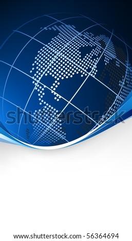blue world template - stock photo