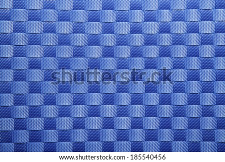 Blue woven texture or background from plastic weave - stock photo