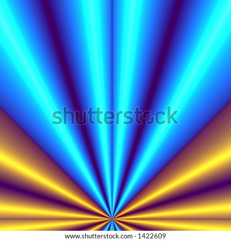 Blue-yellow background illustration - stock photo