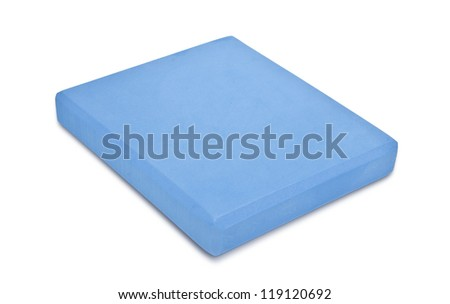 Blue Yoga Brick isolated on white