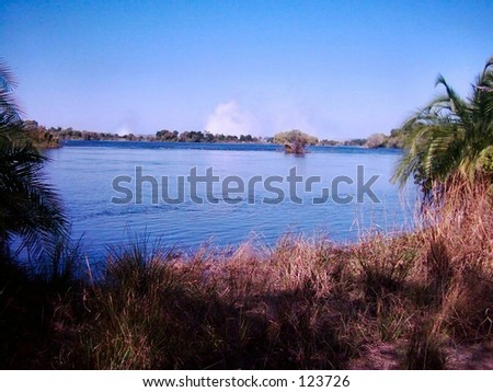 Blue Zambezi - stock photo