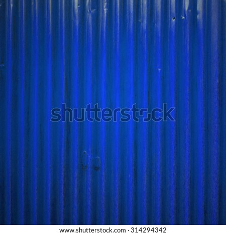 blue zinc wall,background, Metal sheet wall