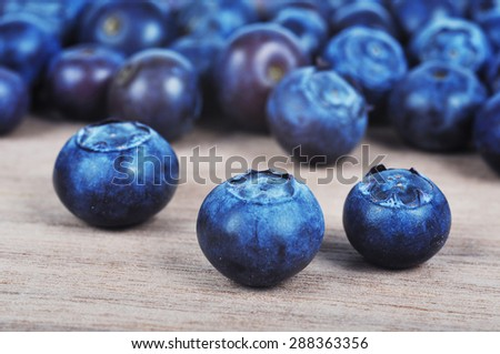 Blueberries background closeup