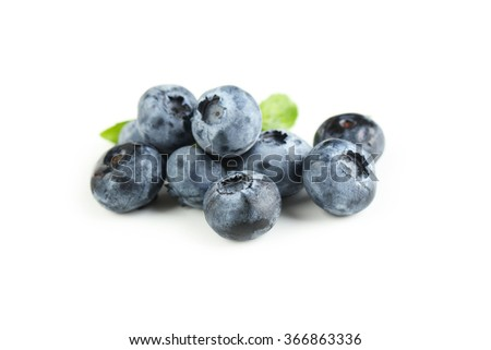 Blueberries isolated on a white