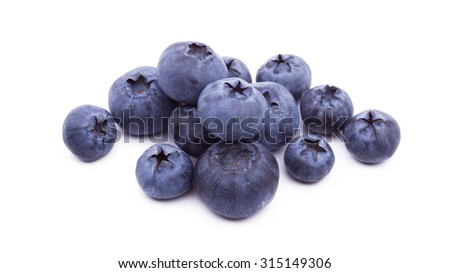 Blueberries on white background isolated - stock photo