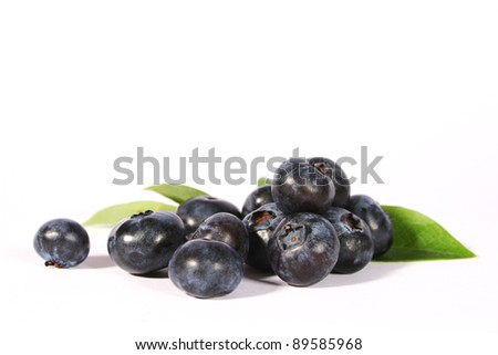 blueberries/sweet fruits/fruits of summer 1 - stock photo