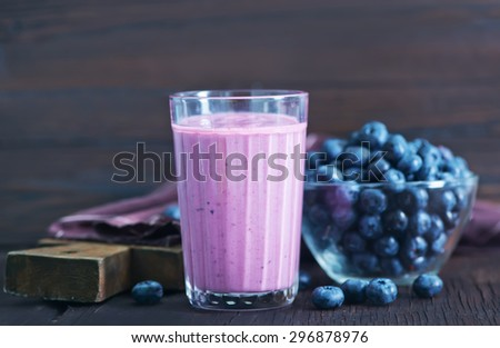 blueberry and yogurt - stock photo