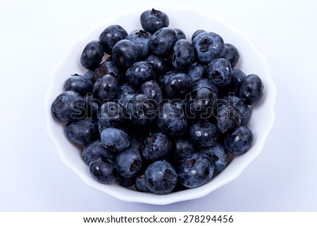 blueberry antioxidant organic food concept for healthy eating.