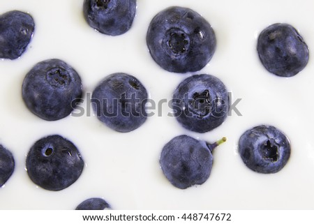 Blueberry background.Concept: Healthy living, fresh nutritions, fitness diet. - stock photo