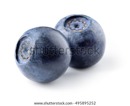 Blueberry. Fresh berries isolated on white.
