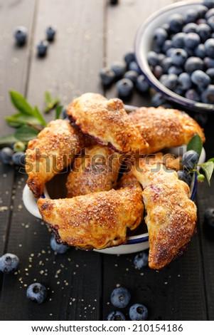 Blueberry hand pies - stock photo