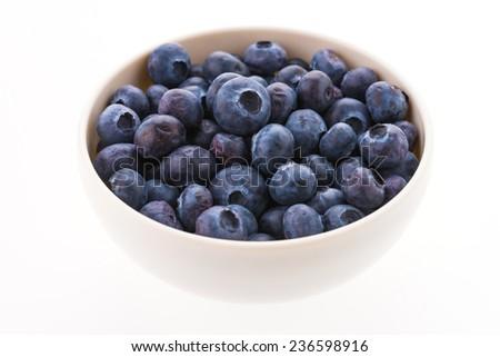 Blueberry isolated on white - stock photo