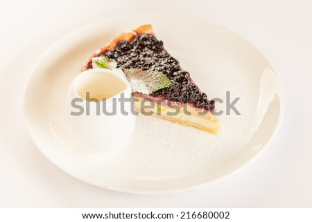 Blueberry pie - stock photo
