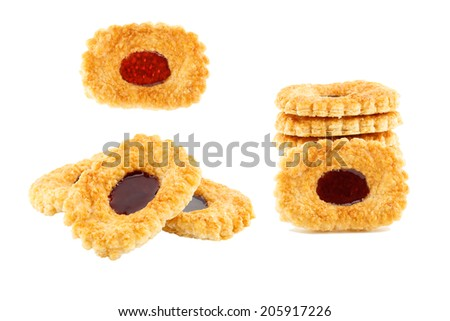 Blueberry pie isolated on white background - stock photo