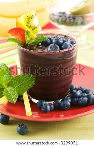 Blueberry slush - stock photo