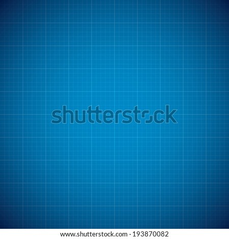 Blueprint architechture illustration background with line grid - stock photo