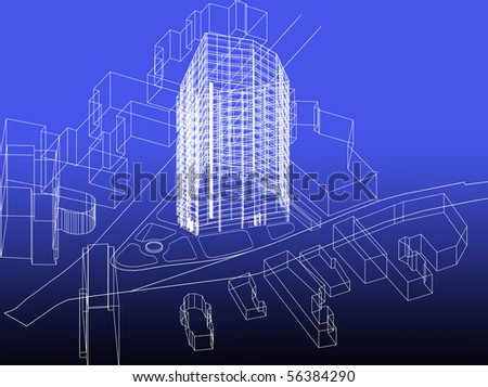 Blueprint business building concept stock illustration 56384290 blueprint business building concept malvernweather Choice Image