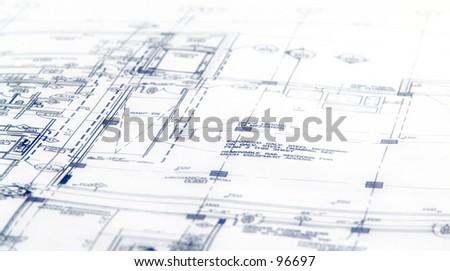 Blueprint One - stock photo
