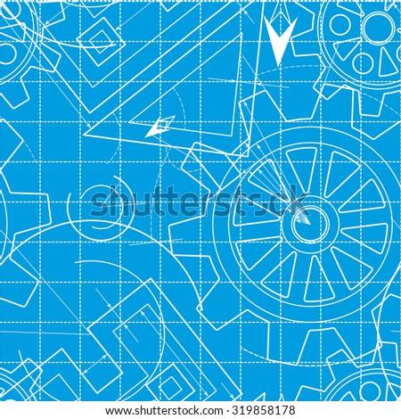 Blueprint pattern gears stock illustration 319858178 shutterstock blueprint pattern with gears malvernweather Images