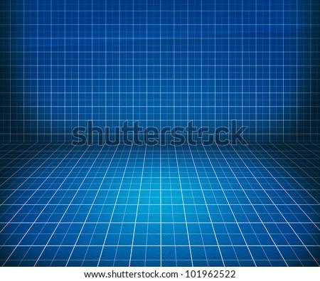 Blueprint Stage Background - stock photo
