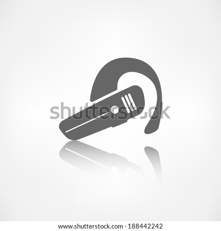 Bluetooth Headset icon. Wireless connection - stock photo