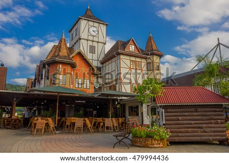 BLUMENAU, BRAZIL - MAY 10, 2016: city located in the brazilian state of santa catarina in the south of brazil