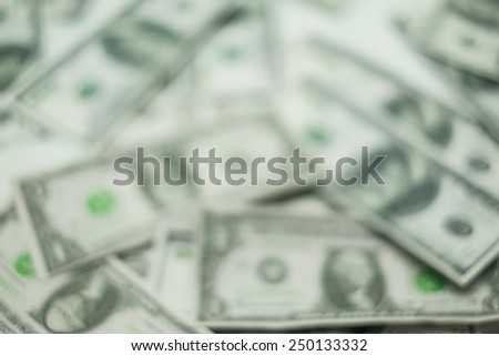 Blur abstract of  US dollars banknote for background. - stock photo