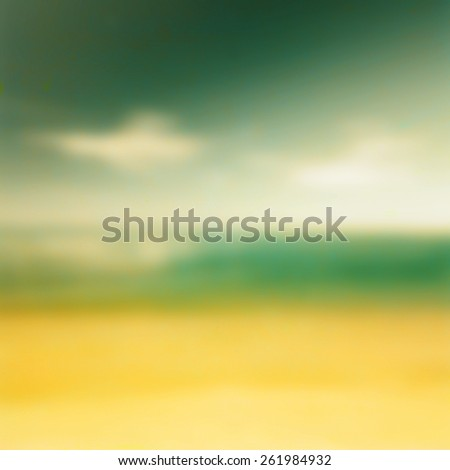 Blur background,beach and sky blurry image background - stock photo