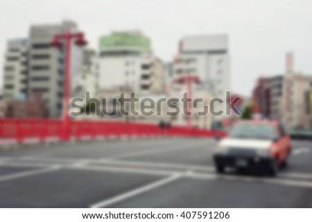 Blur background :  Japan city street - stock photo