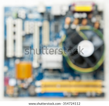 blur background mother board of computer - stock photo