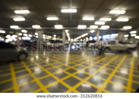 blur background of car parking.  - stock photo