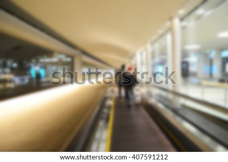 Blur background : Passenger in the airport. - stock photo