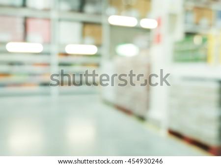 blur big store - stock photo