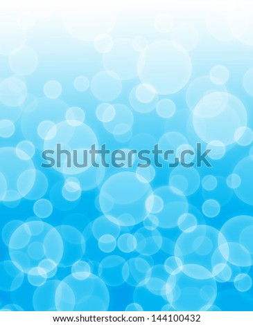 Blur bubbles abstract background - stock photo