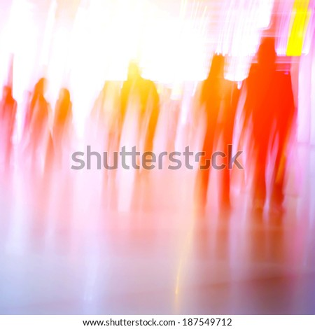 blur business people abstract background - stock photo
