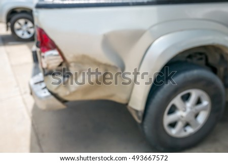 blur car crash for car insurance background