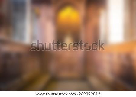 Blur church   - stock photo