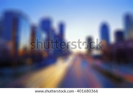 Blur City View Background - stock photo