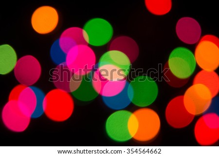 Blur color bokeh background from chrismas tree in dark background 5