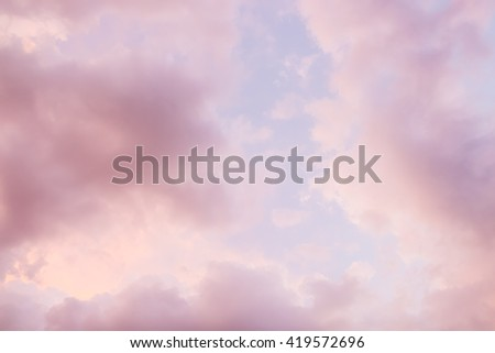 Blur, dark storm clouds before rain, Storm clouds and lightning when sunset. Sky in pink and purple color. abstract background - stock photo
