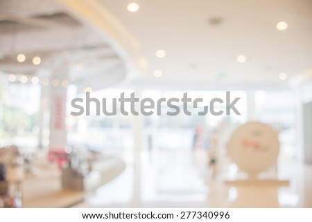 blur department store with bokeh for background - stock photo